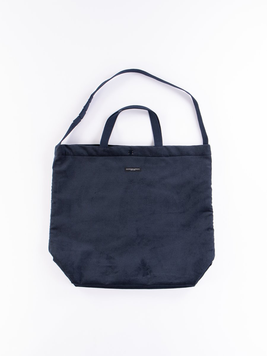 Navy Cotton 8W Corduroy Carry All Tote
