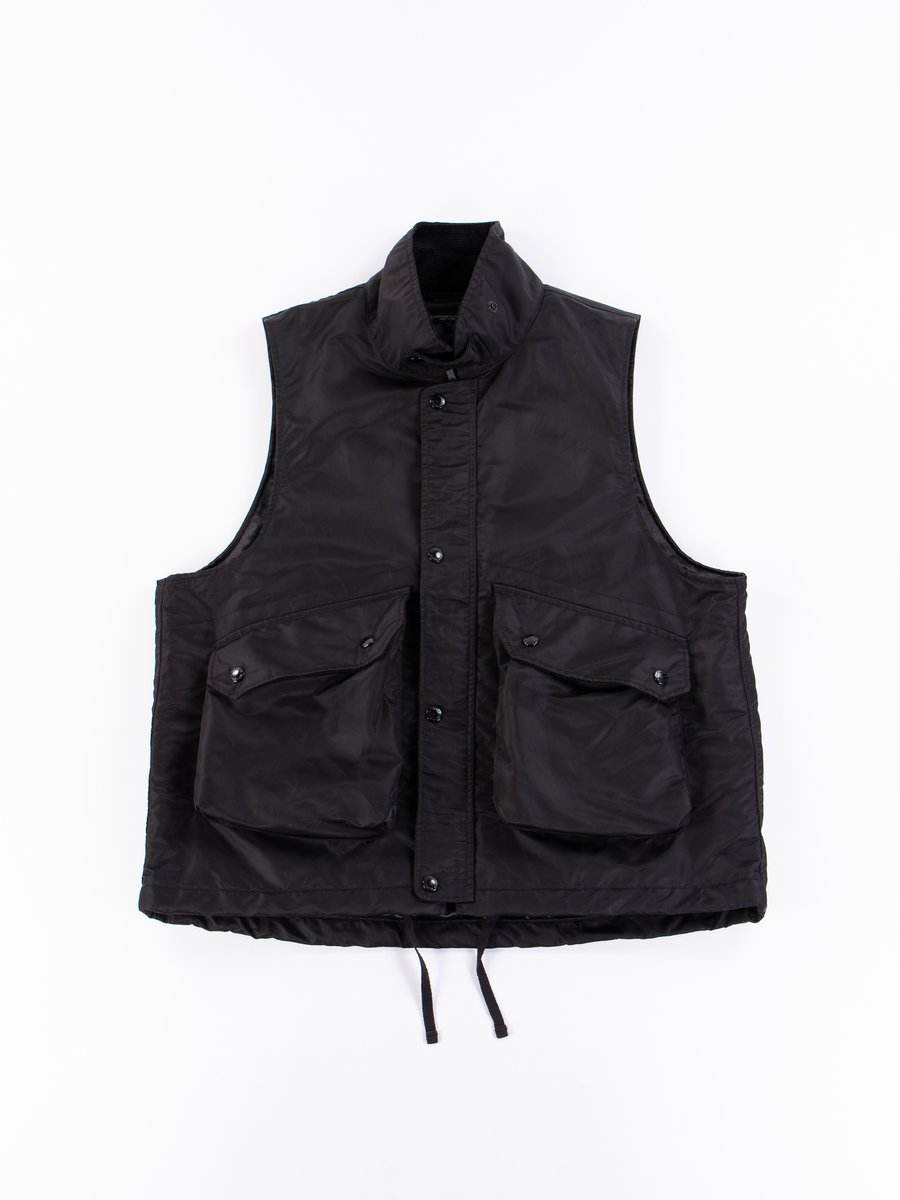 Black Flight Satin Nylon Field Vest