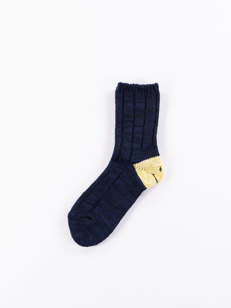 Navy 56 Yarns MA–1 Smiley Heel Socks