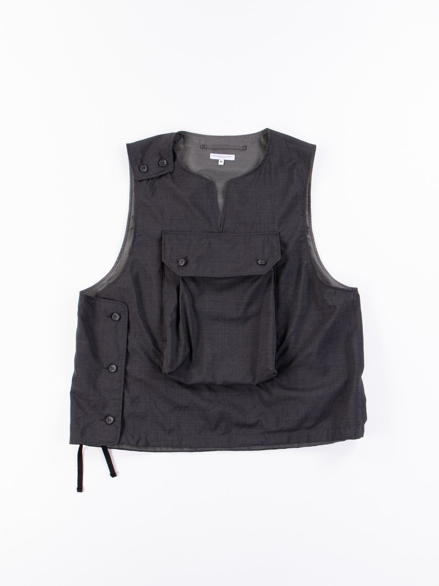 Grey Tropical Wool Cover Vest