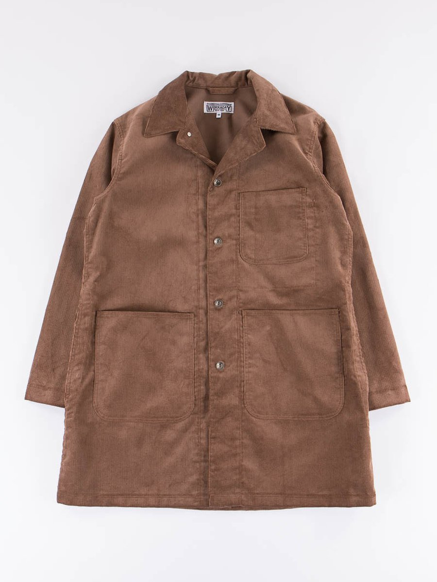Khaki 14W Corduroy Shop Coat