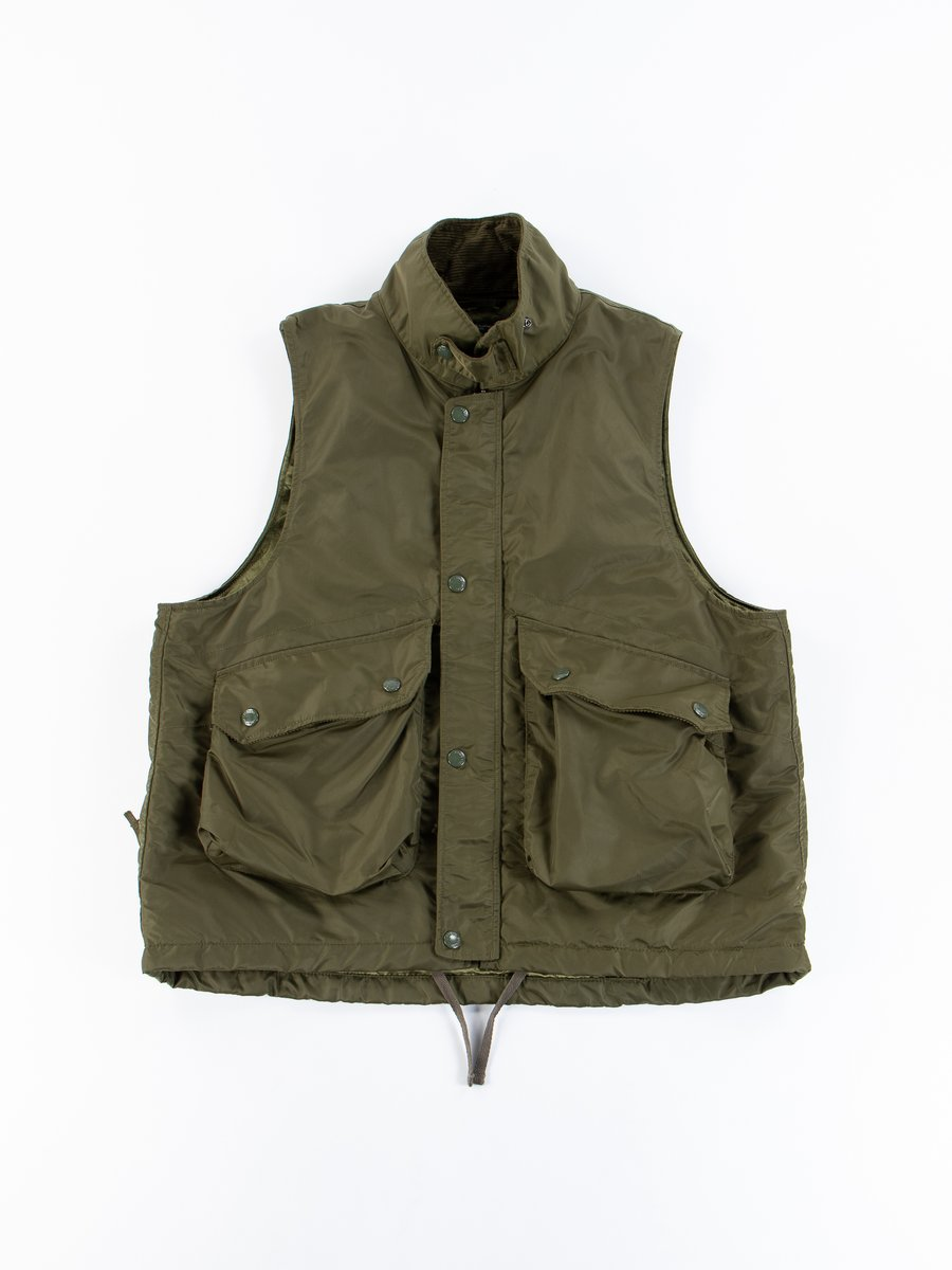 Olive Flight Satin Nylon Field Vest