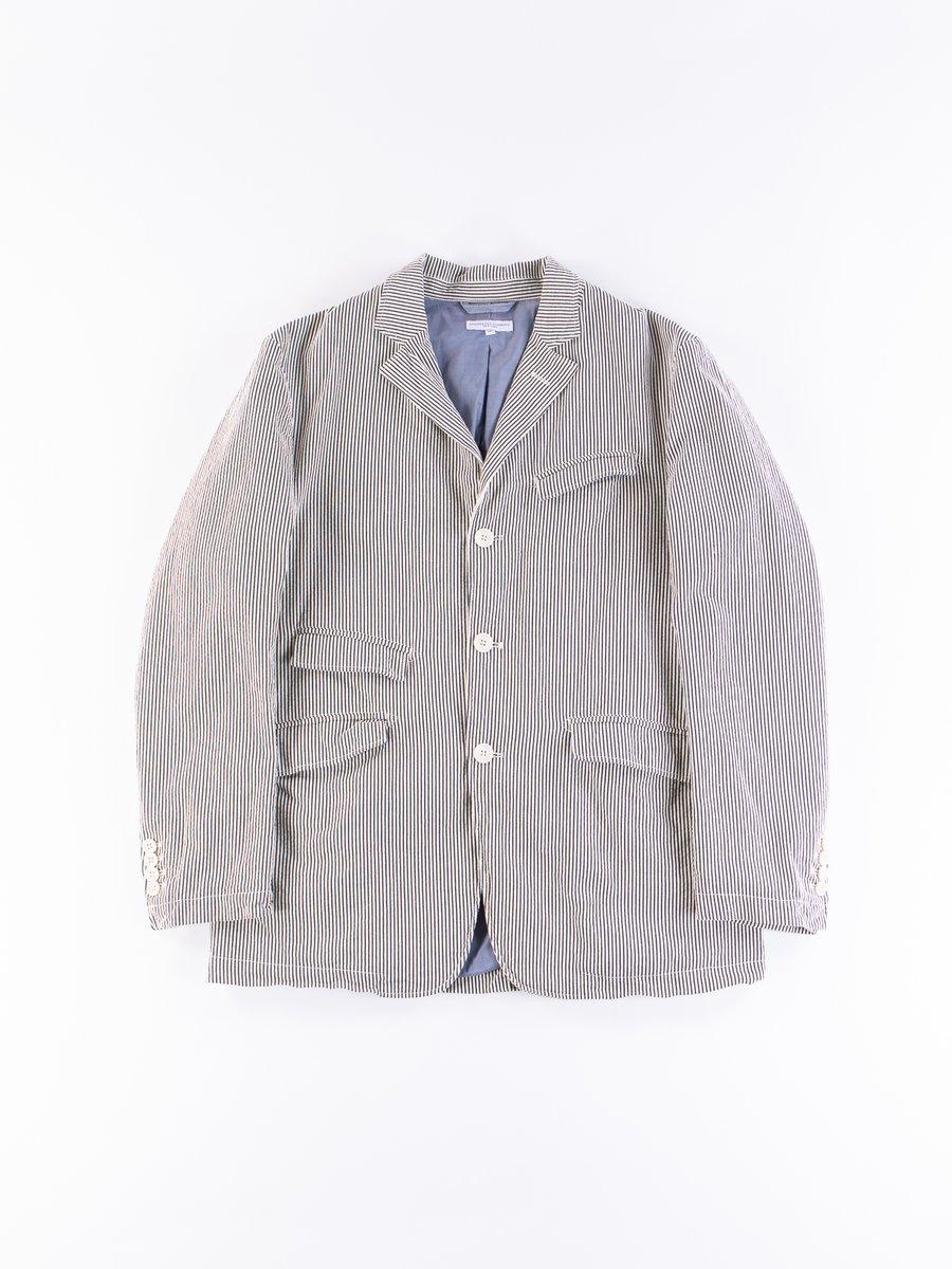 Navy Seersucker Stripe Andover Jacket