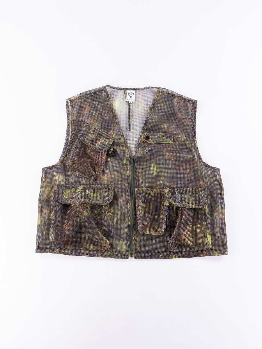 Camo Poly Mesh Bush Vest