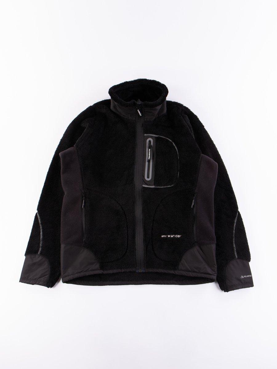 Black High Loft Fleece Jacket