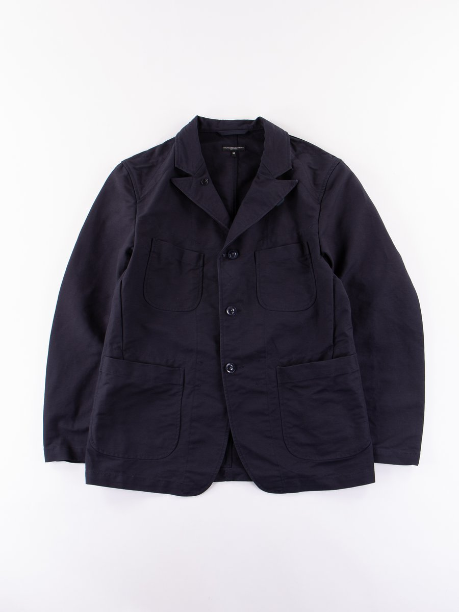 Dark Navy Cotton Double Cloth Bedford Jacket