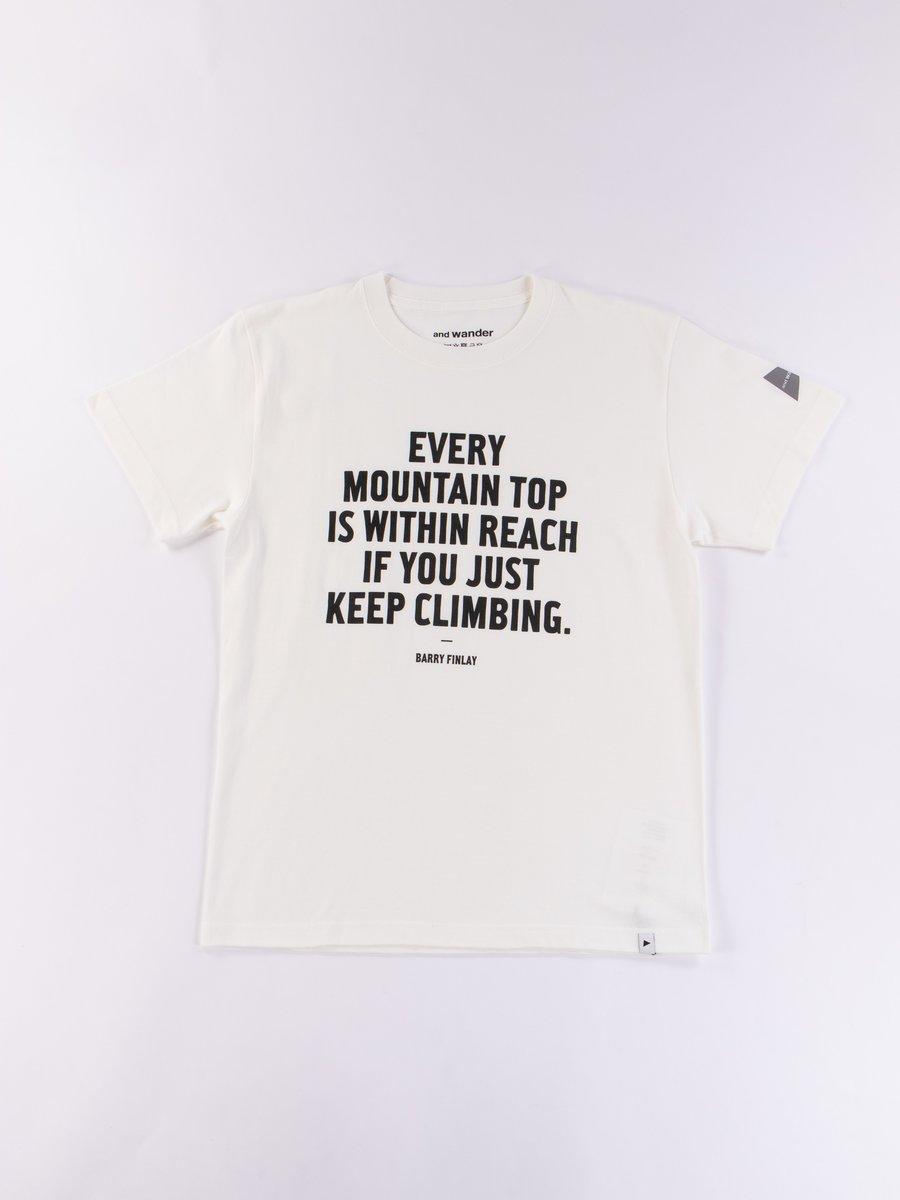 White Fumikazu Ohara Message T–Shirt