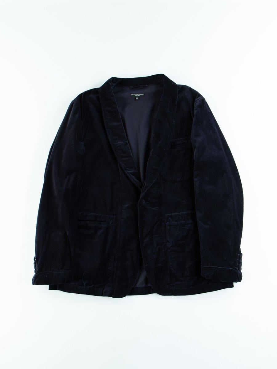 Dark Navy Cotton Velveteen SD Jacket