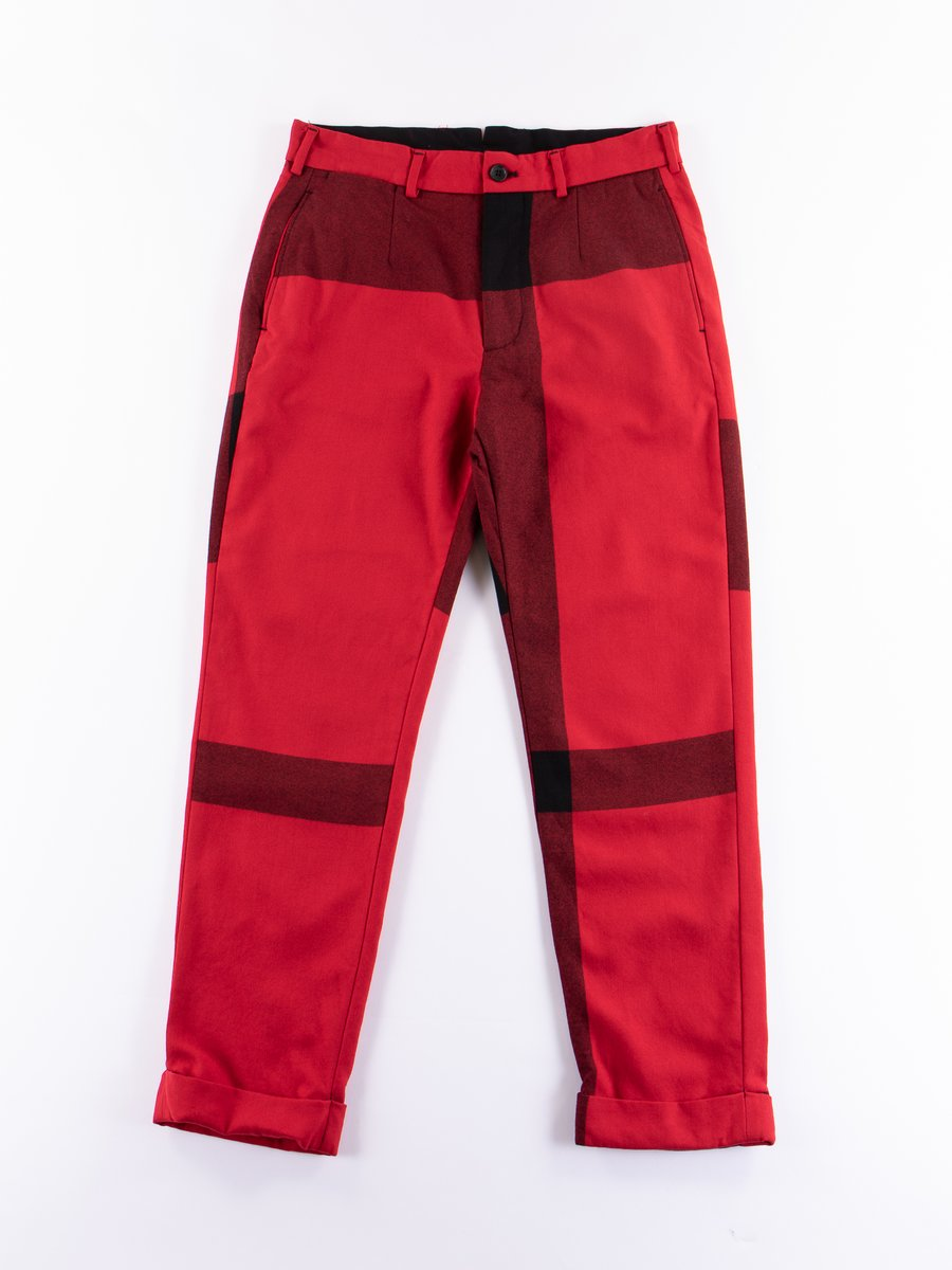 Red/Black Big Plaid Worsted Flannel Andover Pant