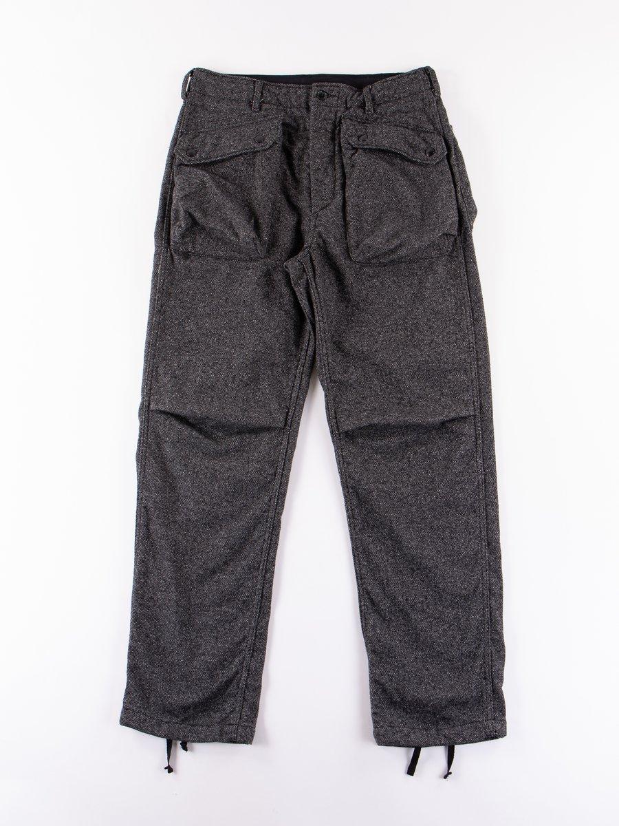 Grey Wool Homespun Norwegian Pant