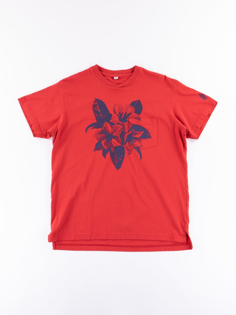 Red Floral Printed T–Shirt
