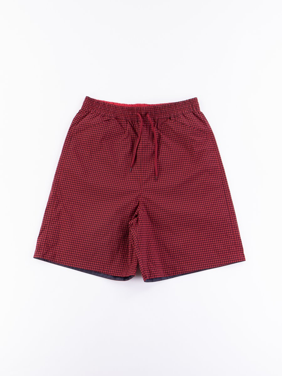 Red Gingham Reversible Deck Shorts