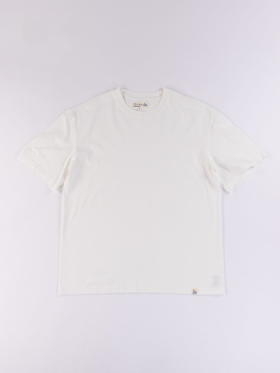 White Good Basics CTOS01 Oversized Crew Neck Tee