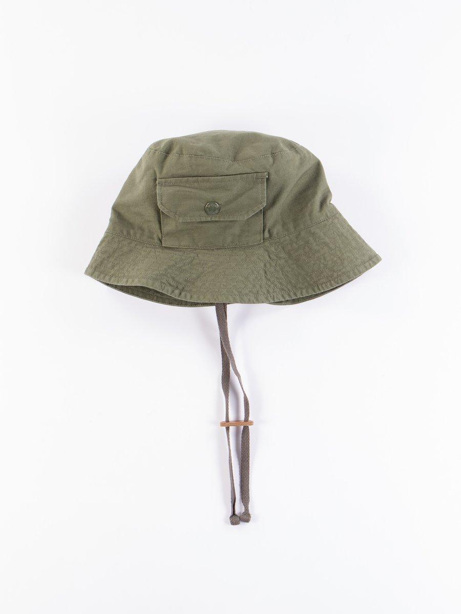 Olive Cotton Ripstop Explorer Hat