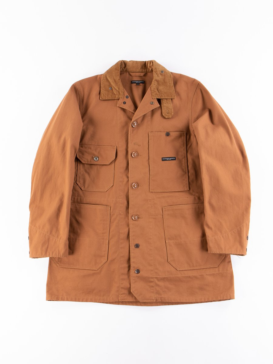 Brown 12oz Duck Canvas Long Logger Jacket