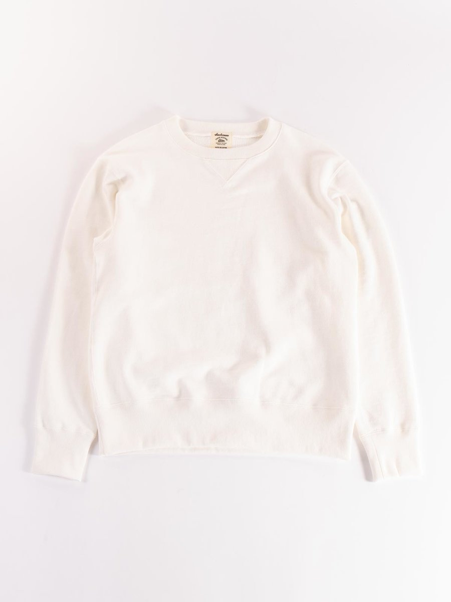 GG CREW–NECK SWEAT WHITE