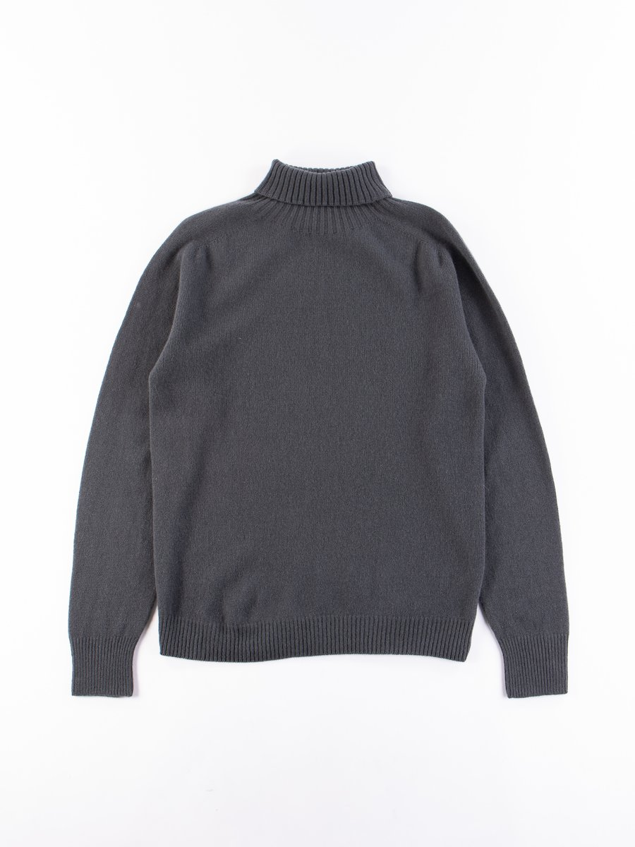Carbon Merino/Cashmere Roll Neck Sweater