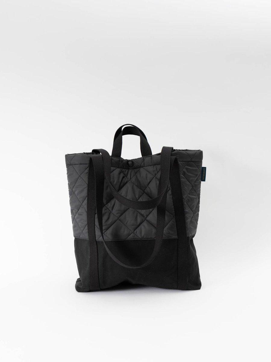 SPLIT TOTE BAG LAMP BLACK / BLACK