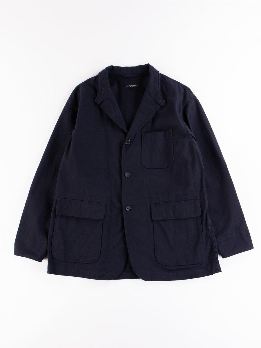 Dark Navy Cotton Heavy Twill Loiter Jacket