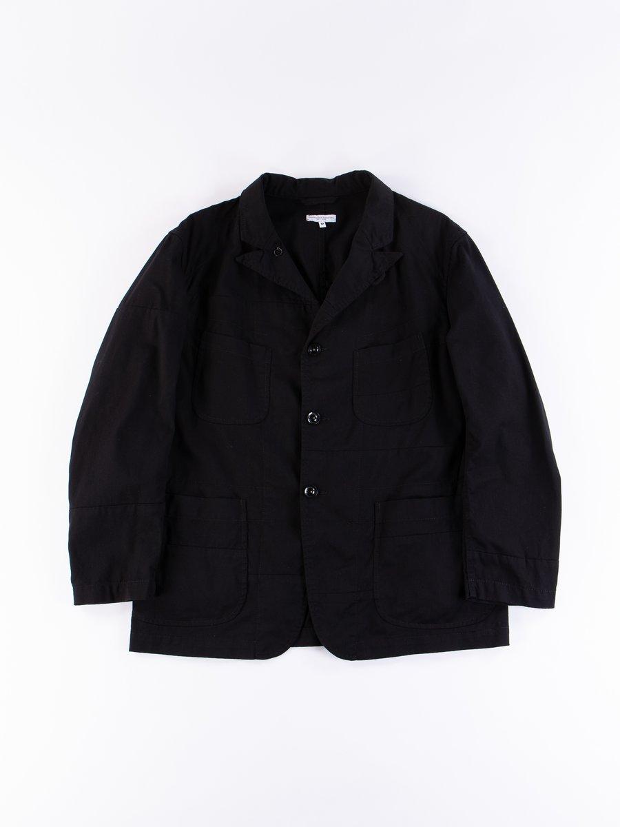 Black 6.5oz Flat Twill Solid Bedford Jacket