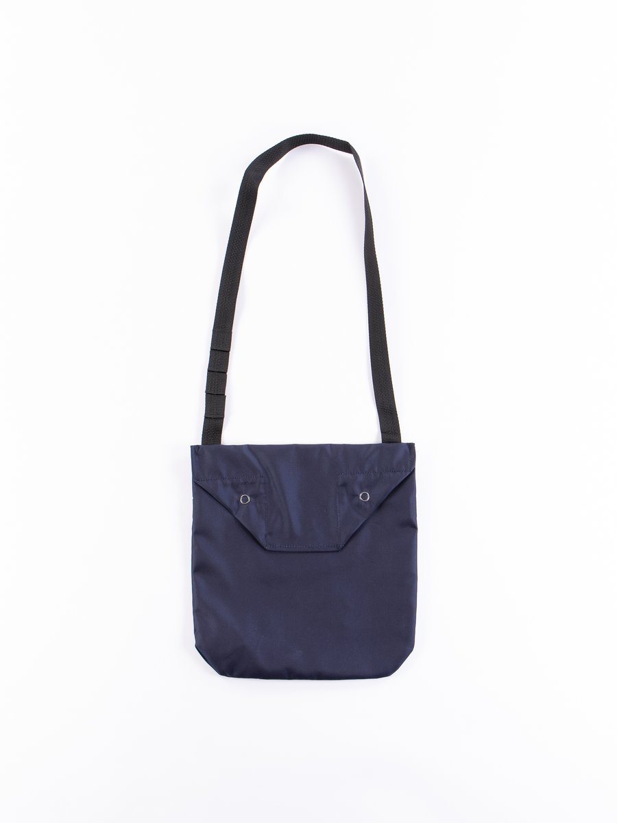 Navy PC Iridescent Twill Shoulder Pouch