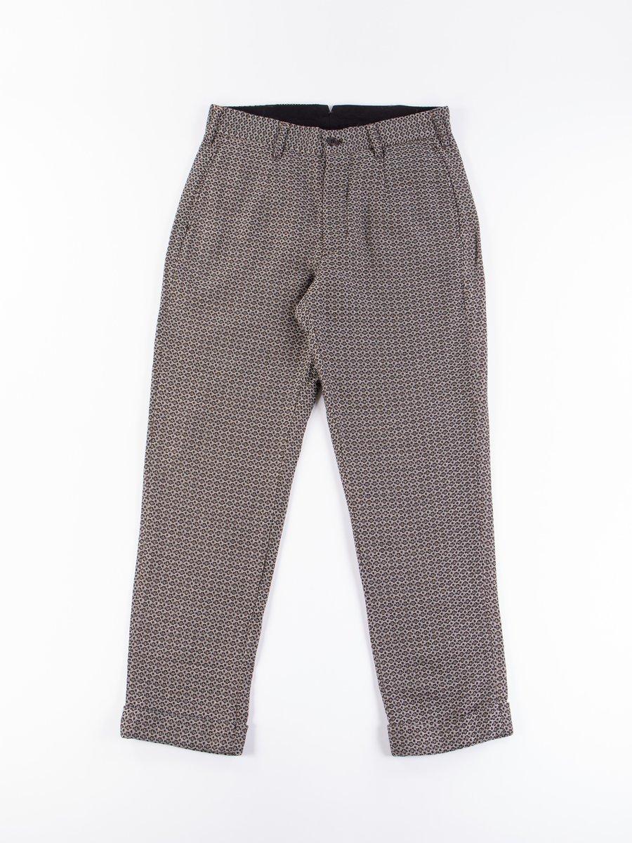 Brown Basketweave Cross Dobby Andover Pant