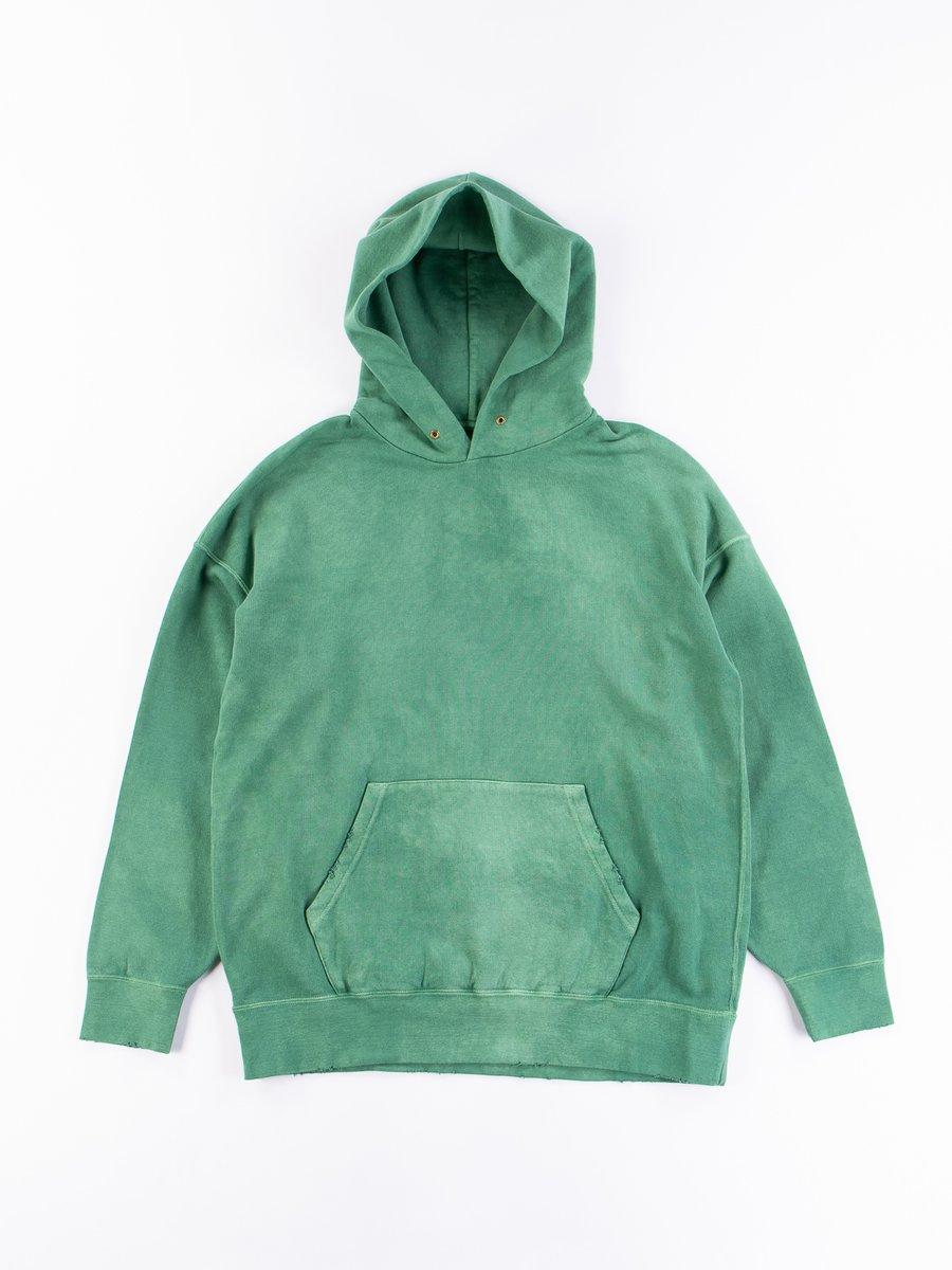 Green Uneven Dye Jumbo P.O. Hoodie