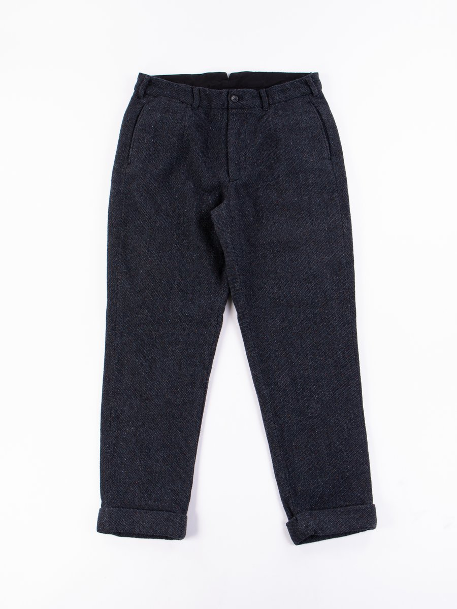 Navy Donegal Tweed Andover Pant