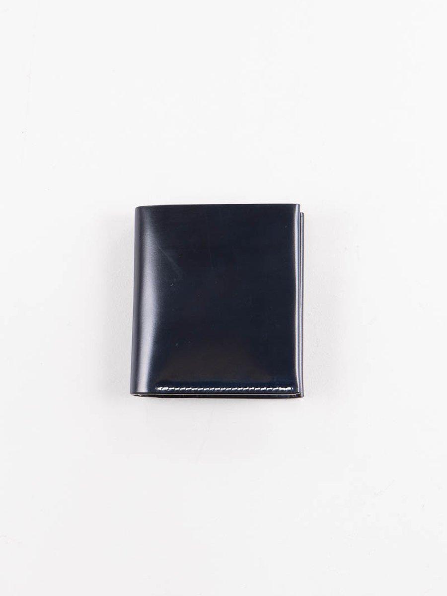 Navy Horween Cordovan 4–4 Wallet