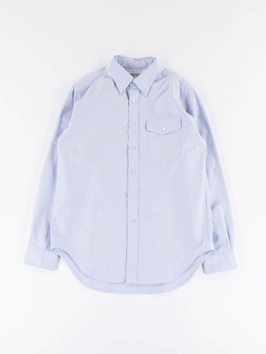 Blue Cotton Oxford BD Shirt