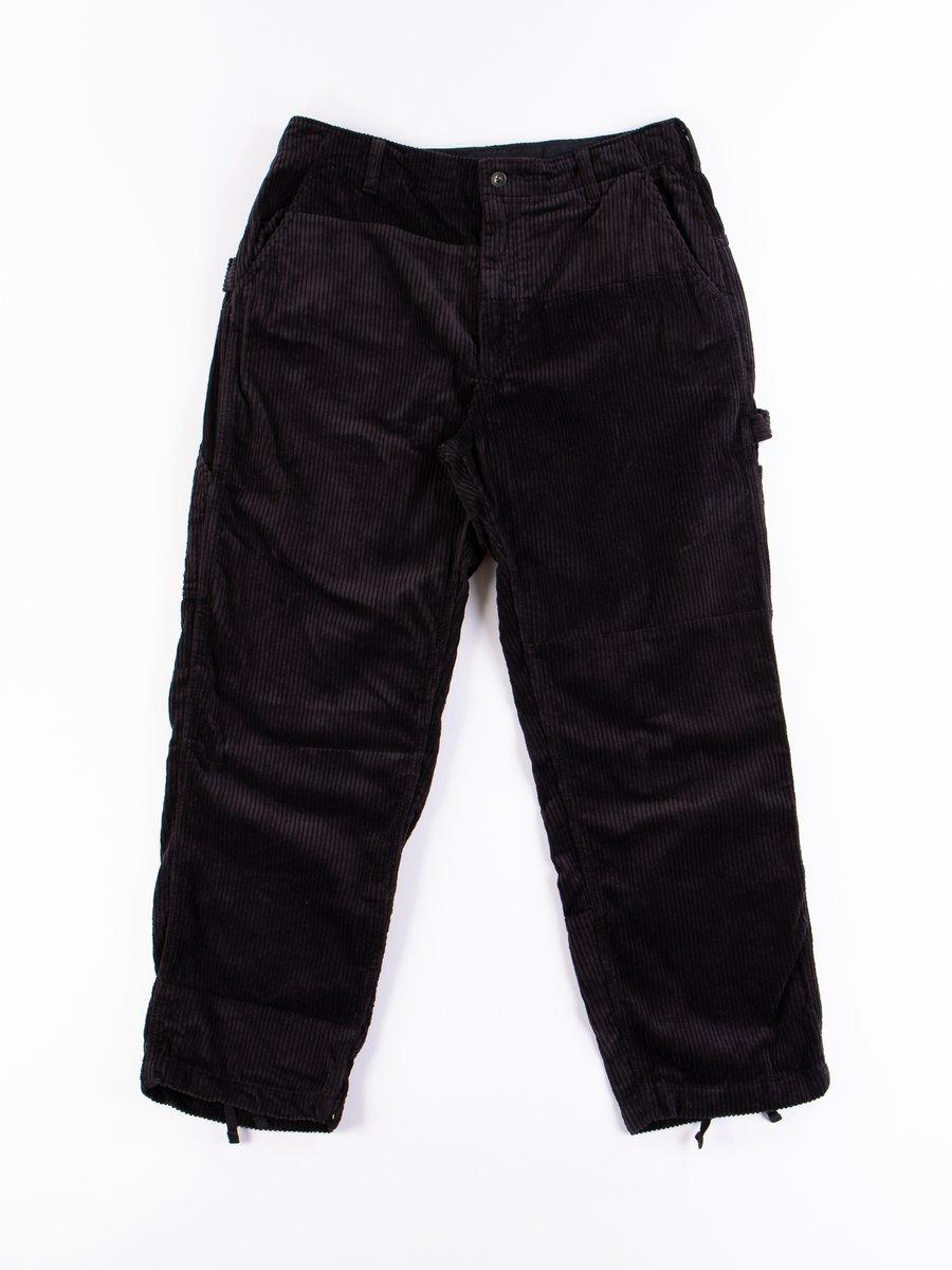 Black Cotton 6W Corduroy Painter Pant