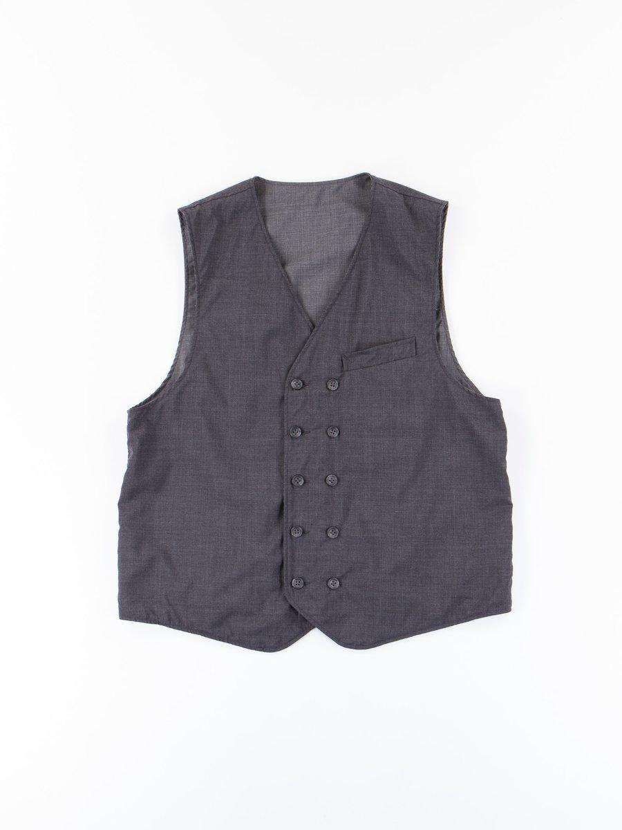 Dark Grey Tropical Wool Cordura Reversible Vest