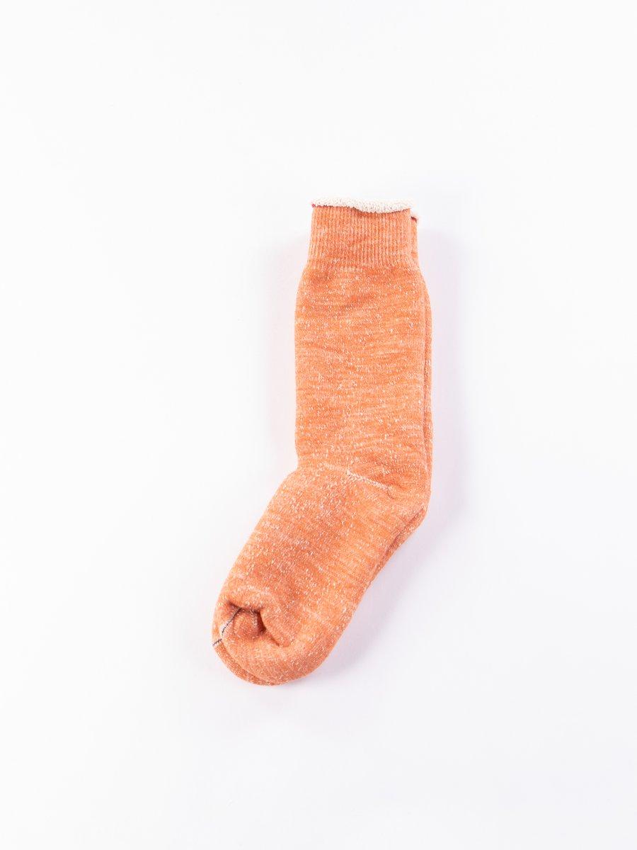 Orange Double Face Socks