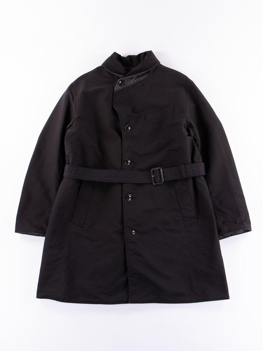 Black/Grey Homespun Shawl Collar Reversible Coat