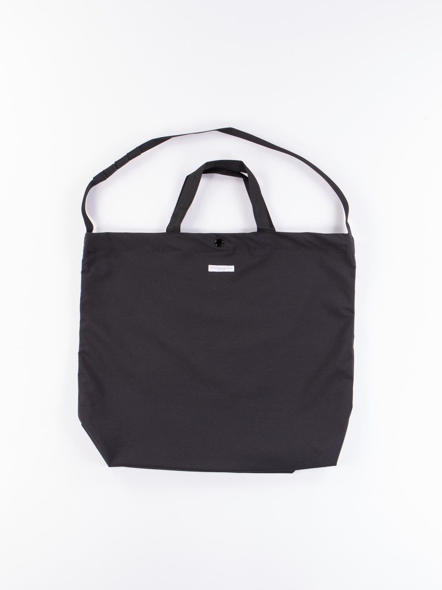 Black Tech Cotton Ripstop Carry All Tote