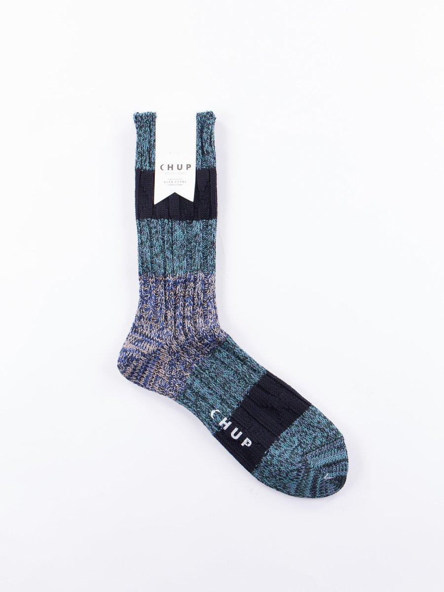 Blue Stratum Socks