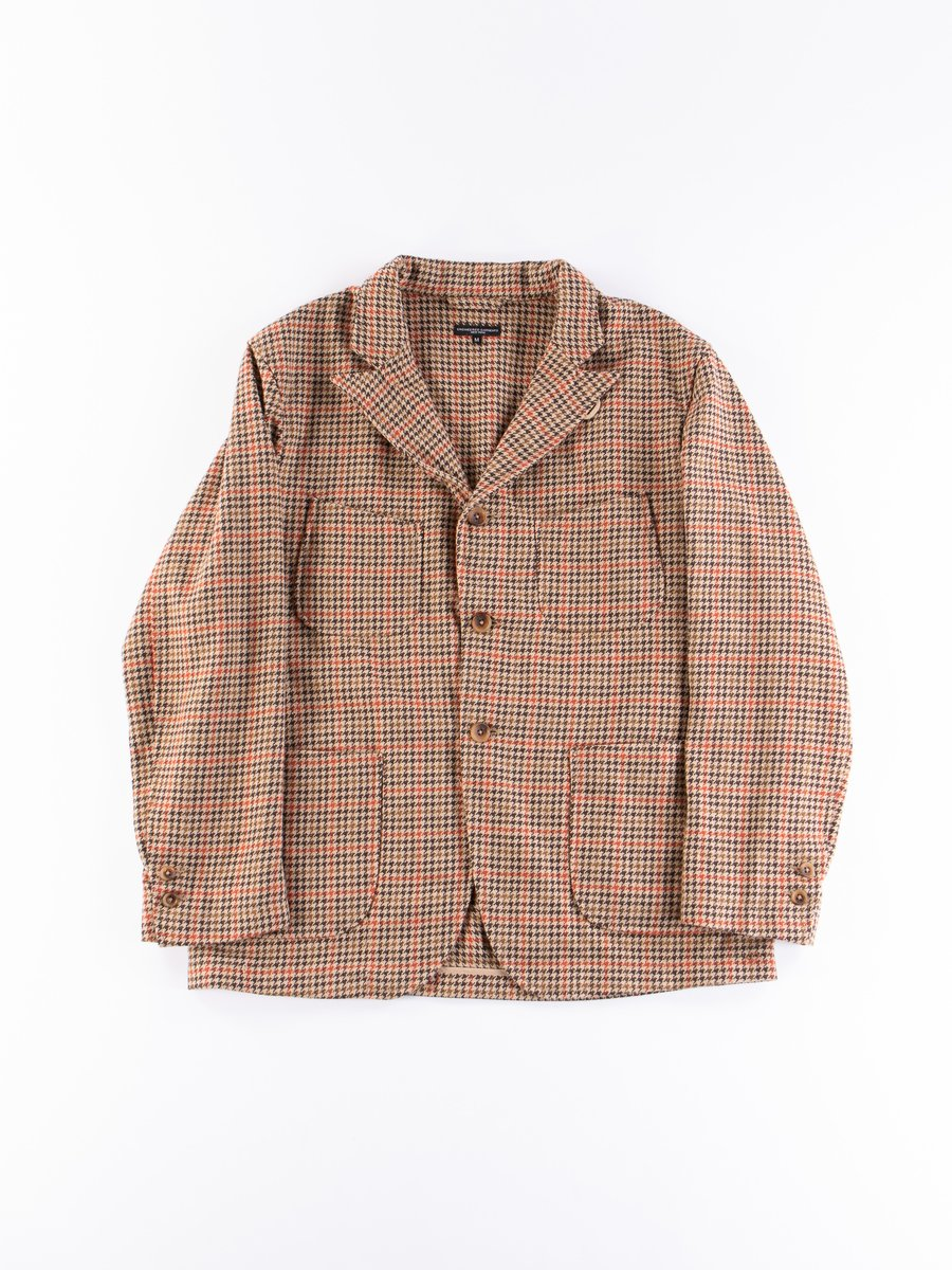 Tan/Orange Wool Poly Gunclub Check NB Jacket