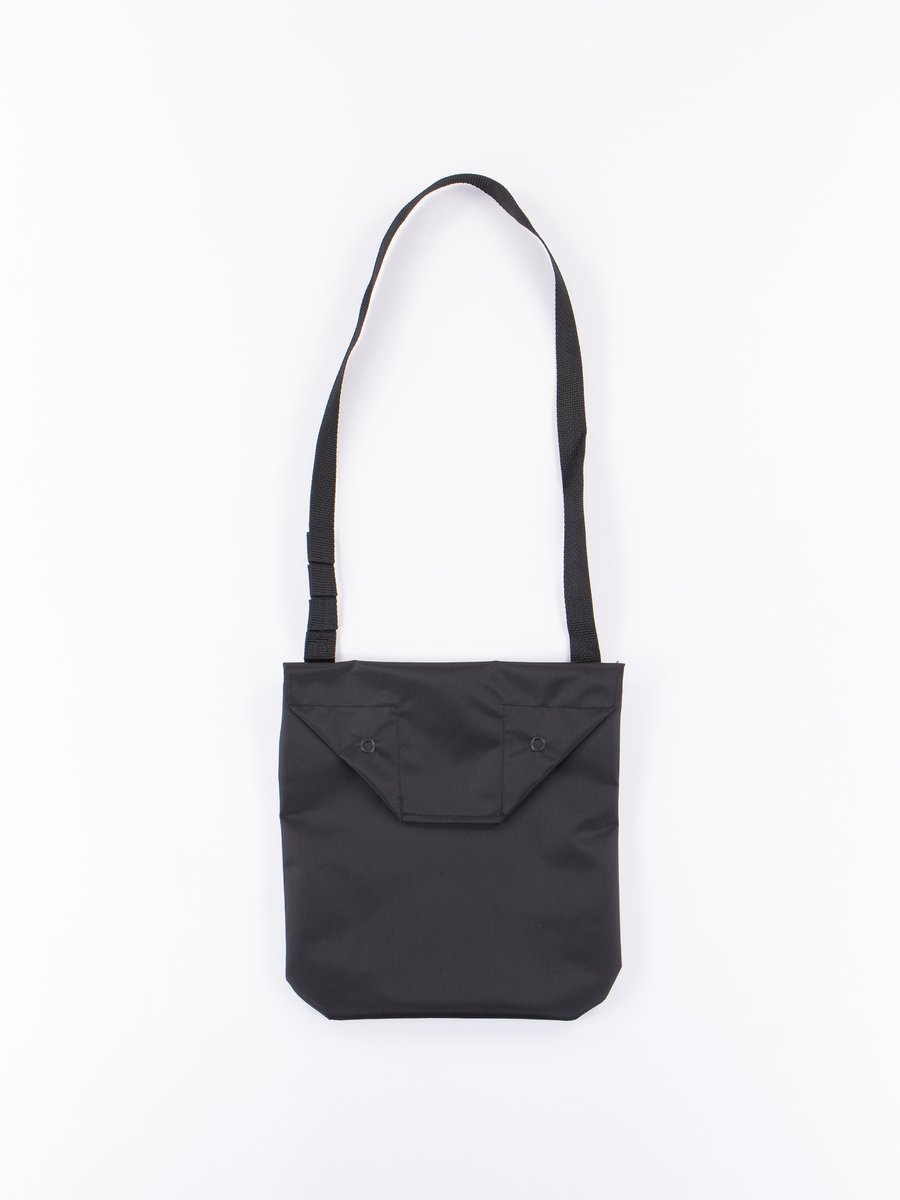 Black Pack Cloth Shoulder Pouch