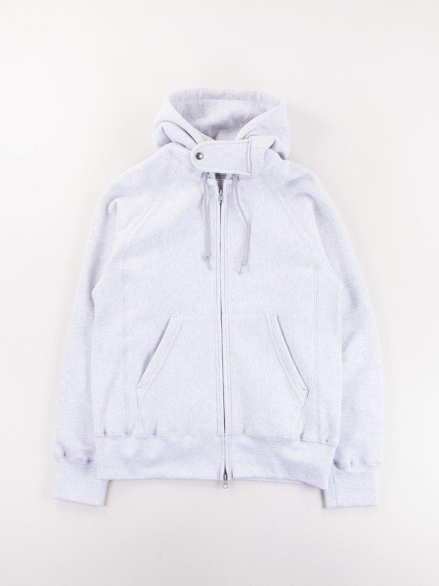 Grey Raglan Zip Hoody
