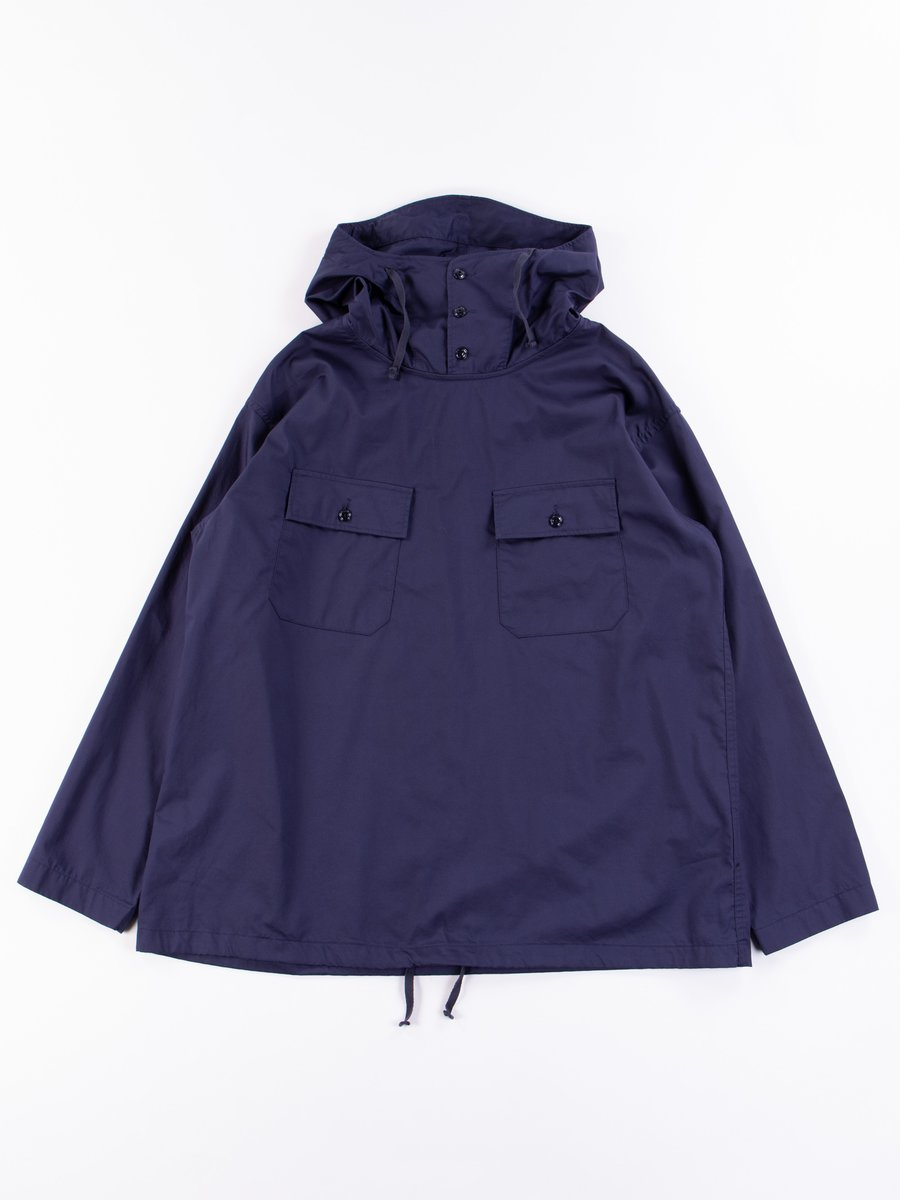Navy Cotton Nano Twill Cagoule Shirt