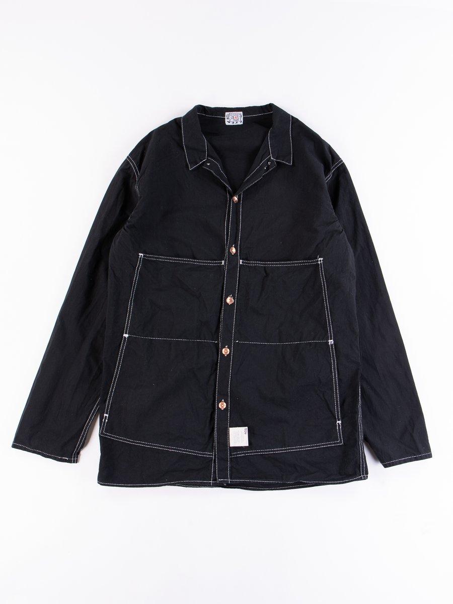 Black Cotton Panama Janus Shirt