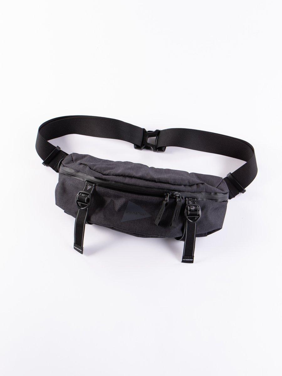 Black Heather Waist Bag