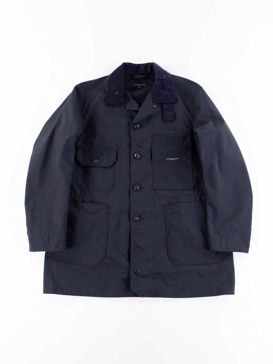 Dark Navy Nyco Ripstop Long Logger Jacket