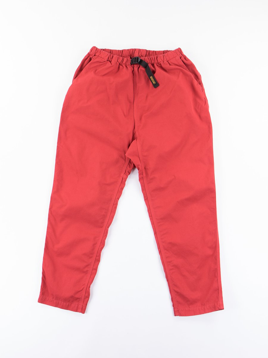 Red Overdyed Poplin Climbing Pant