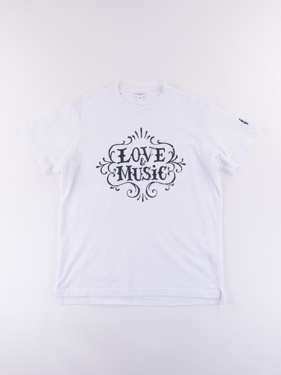 White Love & Music Printed T–Shirt