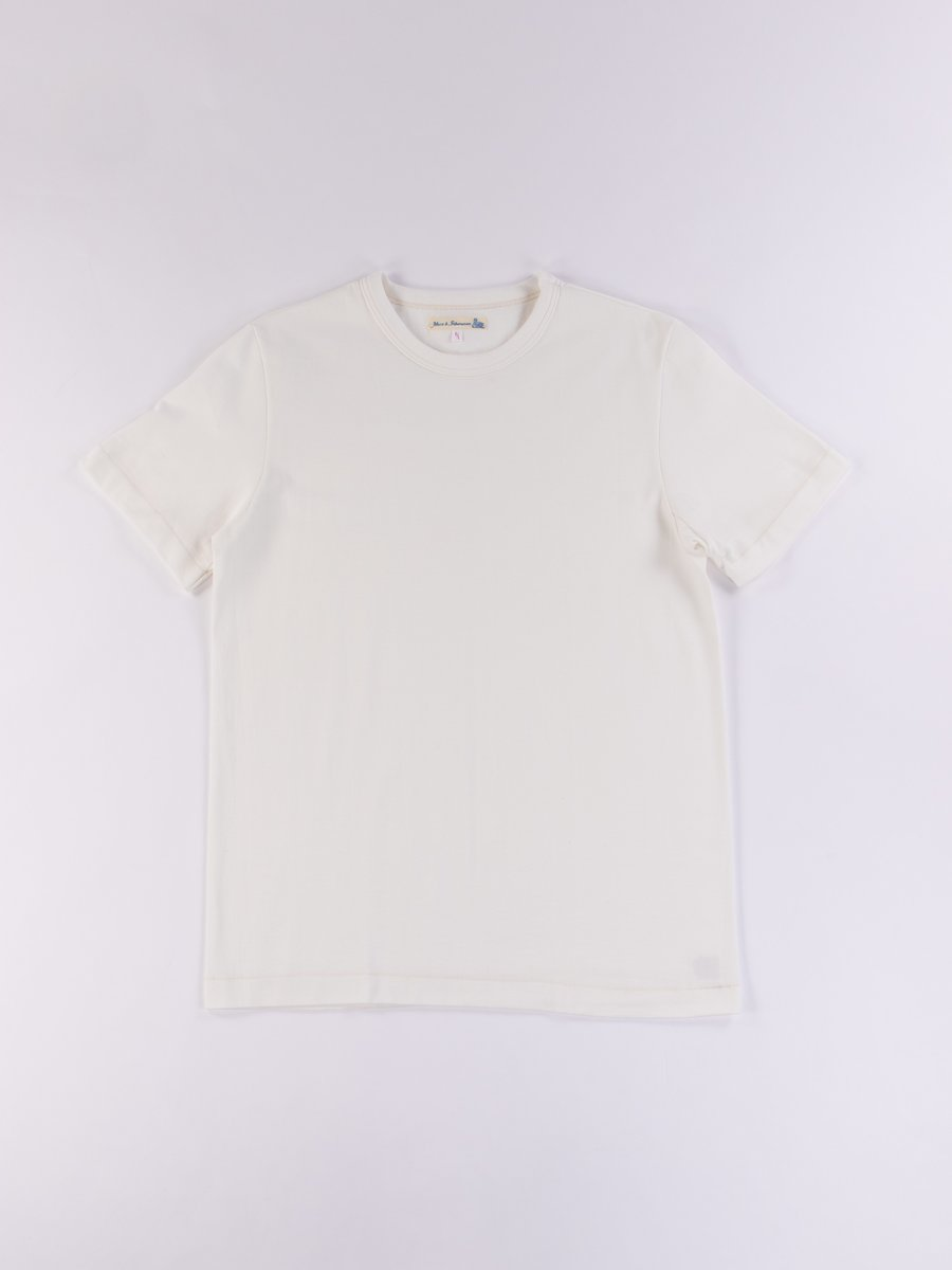 White 214 Organic Cotton Rundhals Shirt