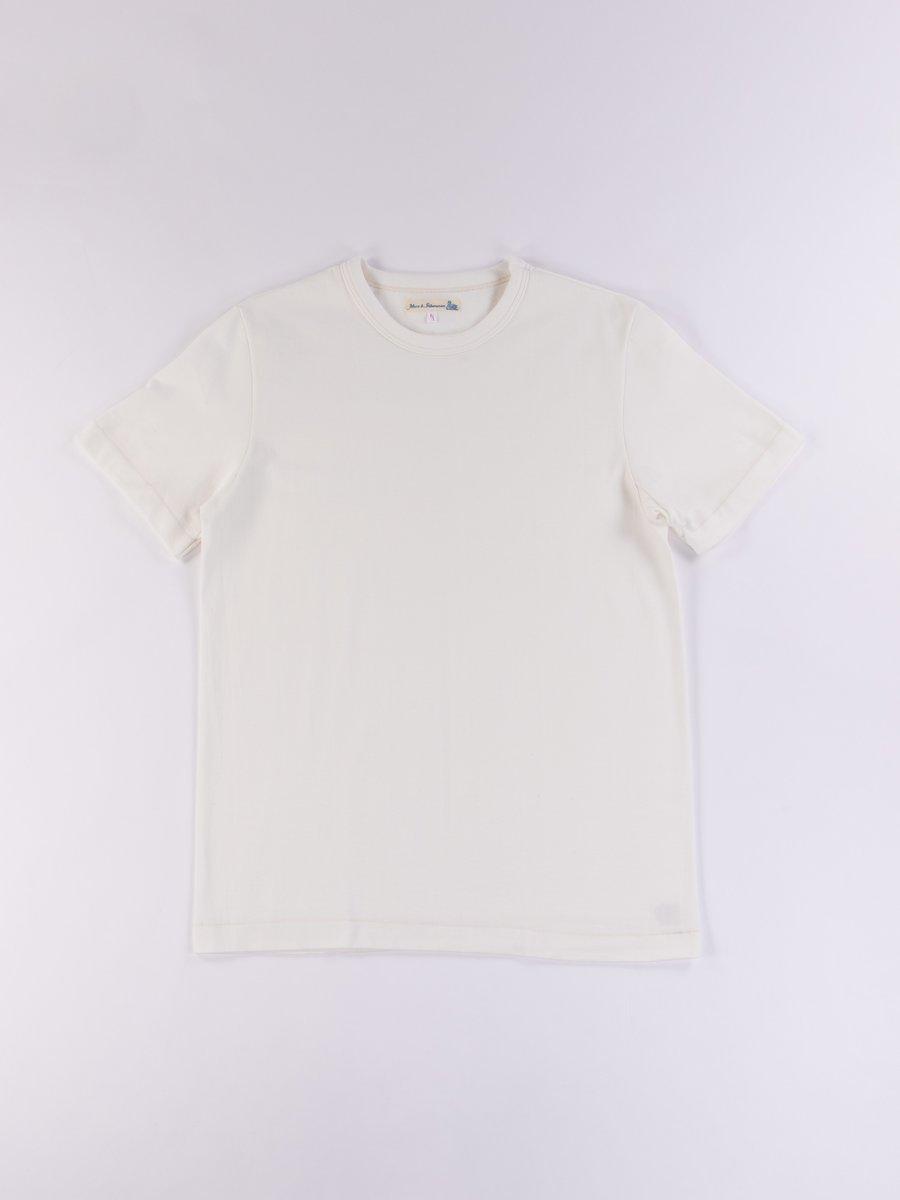 White 214 Organic Cotton Rundhals Shirt