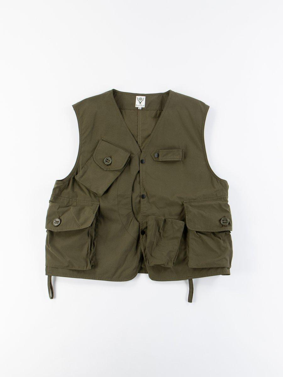 Olive Wax Coating Tenkara Vest