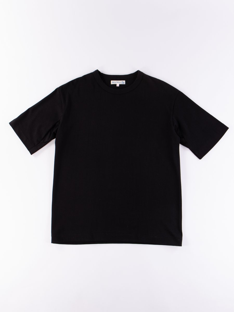 Black 218OS Oversized Crew Neck Tee