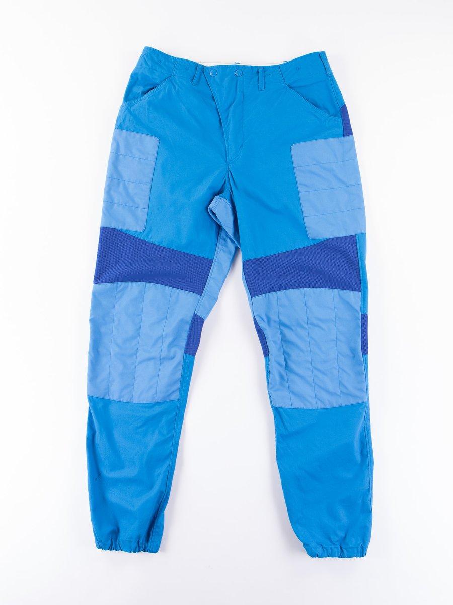 Bright Blue Malibu Poplin Moto Pant